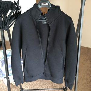 Wings + horns zip hoodie